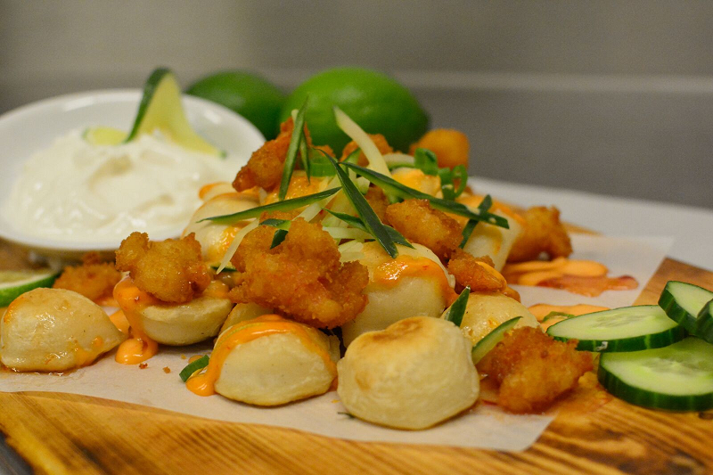 Chili Lime Popcorn Shrimp Perogies