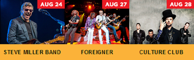 Steve Miller Band, FOREIGNER and Culture Club