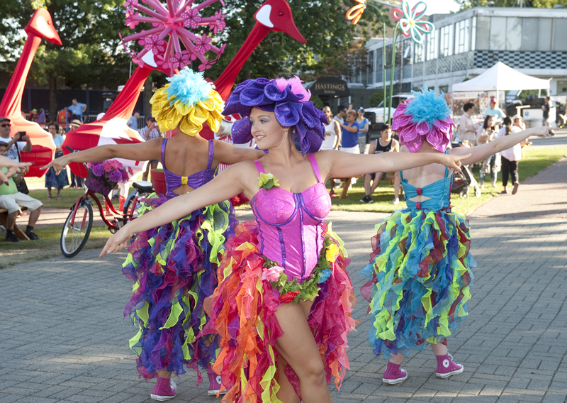 Molly Allan from Surrey performs in Kaleidoscope on Parade at Festival Park during The Fair at the PNE. This show runs at 1pm, 3pm and 6pm daily from now until Labour Day at the PNE fairgrounds.